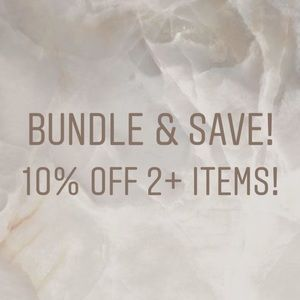 Bundle and Save! 10% off 2 or more items ❤️